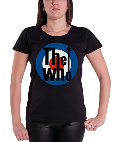 The Who T shirt Classic Target band Logo Nue offiziell damen Skinny Fit (Skinny-band-t-shirts)