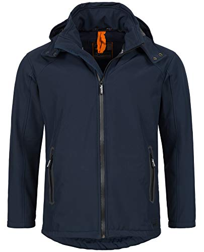 A. Salvarini Herren Softshell Funktions Outdoor Regen Jacke Sport Freizeitjacke AS098 (Gr.