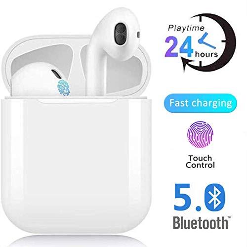 Écouteurs sans Fil Bluetooth 5.0, écouteurs Sportifs avec IPX5 Écouteurs 3D stéréo étanches dans l'oreille Intégré HD Mic Casques avec étui de Chargement Portable avec réduction de Bruit