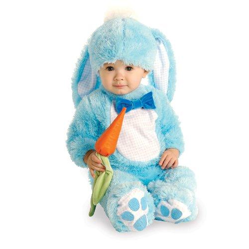 Handsome Lil 'Wabbit - Blau - Baby wachsen - Kinder-Kostüm - 6 bis 12 (Kind Karotte Kostüme)