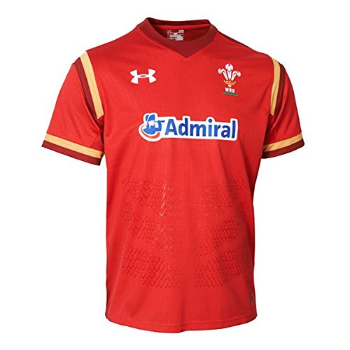 Wales WRU 2016/17 Home Replica Rugby Shirt - Red/Gold - size XXL - Wales-rugby-shirt