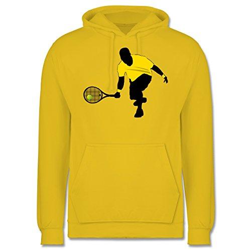 Tennis - Tennis Squash Kniend - Männer Premium Kapuzenpullover / Hoodie Gelb