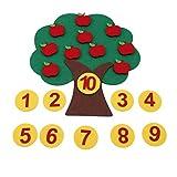 Winwinfly DIY Montessori Lehrmittel Math Spielzeug Apfelbaum Frühen Lernspielzeug