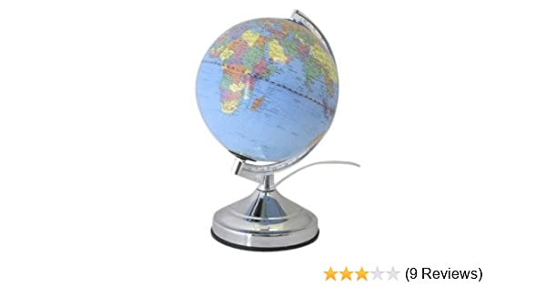 Lloytron Illuminated Light Up Glowing Earth World Globe Desk Top
