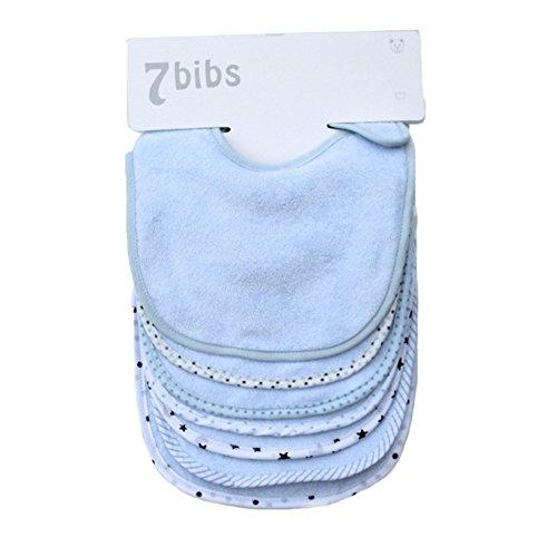 Baby 's doppelte Schichten 100% Baumwolle Bandana Sabbern Weich und saugstark speichelfluss Lätzchen (7Stück)