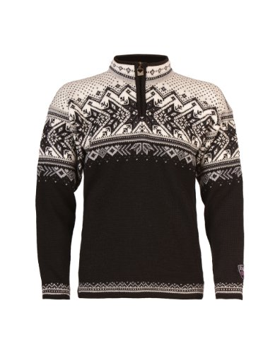 Dale of Norway Herren Vail Sweater Black/Light Charcoal/Smoke/Off White