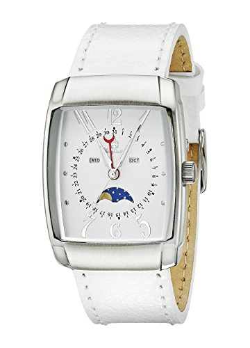 Burgmeister Armbanduhr für Damen mit Analog Anzeige, Quarz-Uhr und Lederarmband - Wasserdichte Damenuhr mit zeitlosem, schickem Design - klassische, elegante Uhr für Frauen - BM612-186 Peoria