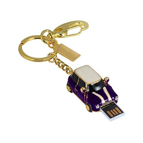 Hunpta 1/ 2/ 4/ 8/ 16/ 32/64/128 GB Oldtimer USB 2.0 Flash genug Speicher Stick U Speicherplatte (Lila, 1GB) -