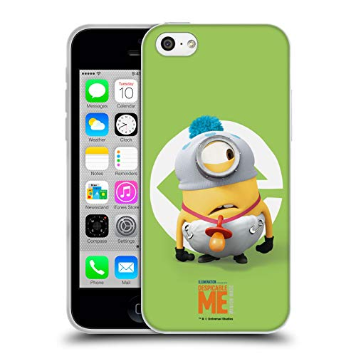 Head Case Designs Offizielle Despicable Me Stuart Baby Kostuem Minions Soft Gel Huelle kompatibel mit iPhone 5c