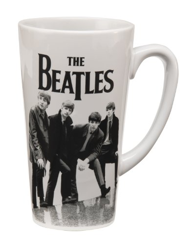 The Beatles Black & White 14 Oz. Ceramic Latte Mug