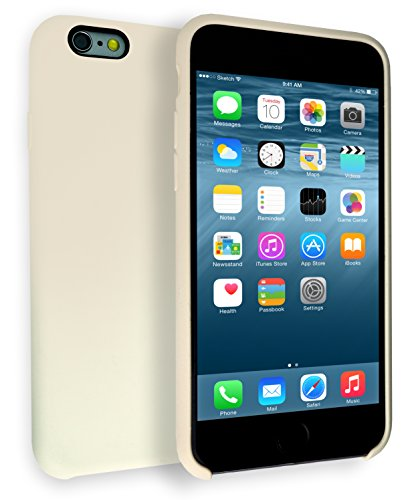 MyGadget Soft Touch Hülle für Apple iPhone 6 / 6s - Hardcase mit weichem Silikon Finish - Case Schutzhülle Back Cover Kratzfest & stoßfest in Matt Beige