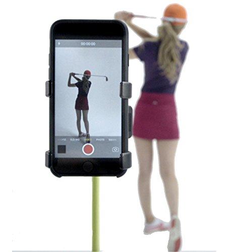 SelfieGolf Selfie Clip Handyhalterung, zur Aufnahme des Golfschwungs, rot / weiß (Golf-stick)