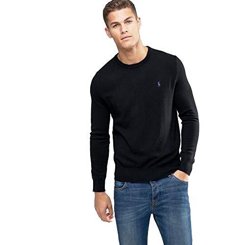 Ralph Lauren Jersey Pima C-Neck Slim Fit (L, Polo Black)