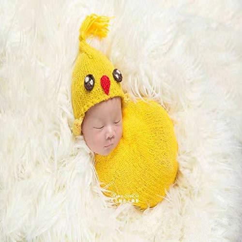 W&P wp Neugeborene Fotografie Kostüm Neugeborenen Handgestrickte Huhn Styling Set