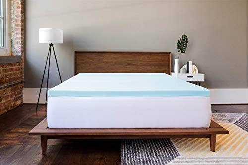 5,1cm Gel Memory Foam Matratzenauflage, Memory-Foam, blau, King Size -