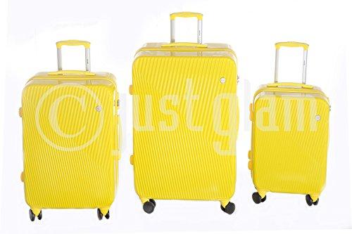 Juegos de3 maletas 885 rígidas brillantes ruedas de policarbonato ABS pequeño equipaje de cabina compañías lowcost compatibles cierran con candado tsa