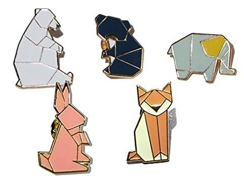 Icegrey Mode Geometrische Cartoon Tiere Emaille Brosche Set Nette Brosche Anstecker Pin Abzeichen für Bekleidung Taschen Rucksäcke