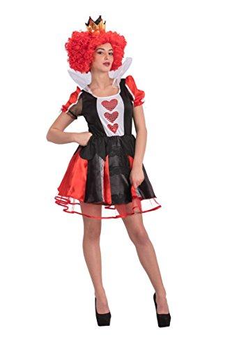 Carnival Toys 82079 Königin der Herzen Kostüm mit Krone, Größe S/M