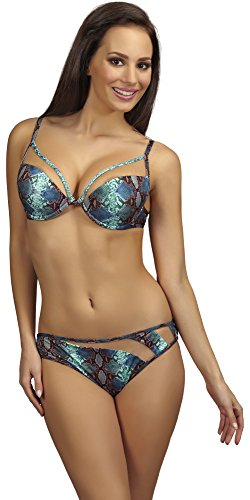 SHE Damen Bikini Set Carla Muster (22)