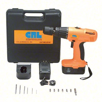 CRL 18V DC Cordless Variable Speed Impact Driver/Drill Kit by C.R. Laurence - Variable Speed Cordless Drill