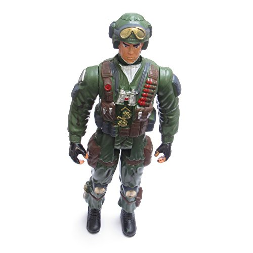 Image of Toy Soldiers Set with Machine Gun, Plastic Handcuffs, War Games, Action Man Army Toy Figure Set