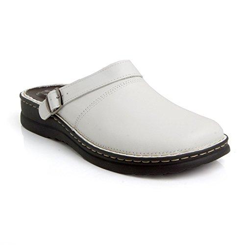 Pantolette 5 Weiß Batz Hochwertigem zonen Lederschuhe Clog Herren Komfortschuhe Zoran Twq5Y