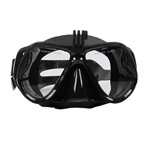 Homyl Tauchmaske Unisex Taucherbrille Schnorchelmaske mit Kamera Halterung für Unterwasser Fotografieren - unterstützt für Gopro Sport Kamera - Schwarz (Kamera-taucherbrille)