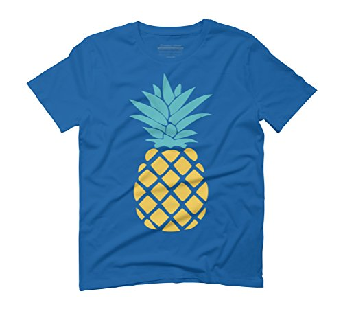 Pineapples Men's Graphic T-Shirt - Design By Humans Royal Blue
