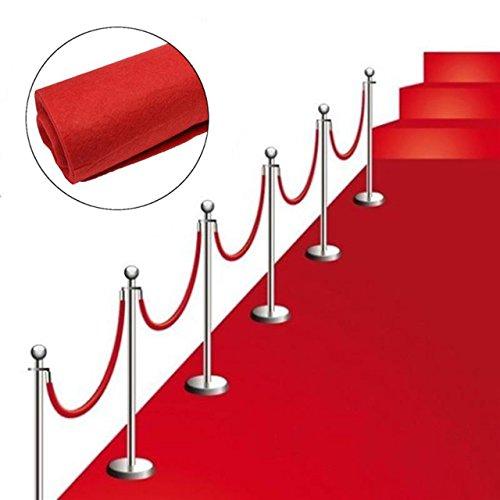 Roter Teppich VIP Deko Empfangsteppich Hochzeit Deko 450x61 cm Red Carpet (Teppich Roten)