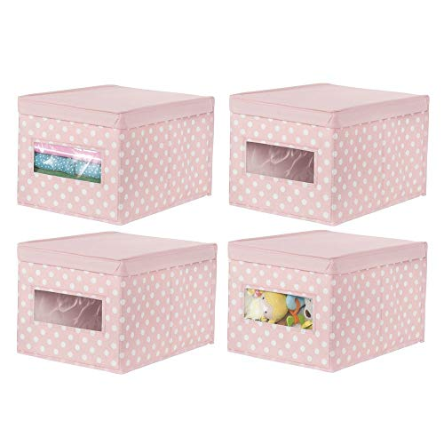MDesign Juego de 4 Cajas organizadoras apilables - Organizador de armarios Grande para habitación Infantil...