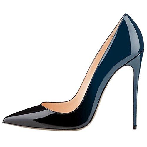 EDEFS - Chaussures Femme - Escarpins Femmes - Femmes Élégant Talon Haut Aiguille - 120mm - Chaussures Fête Soiree Vert