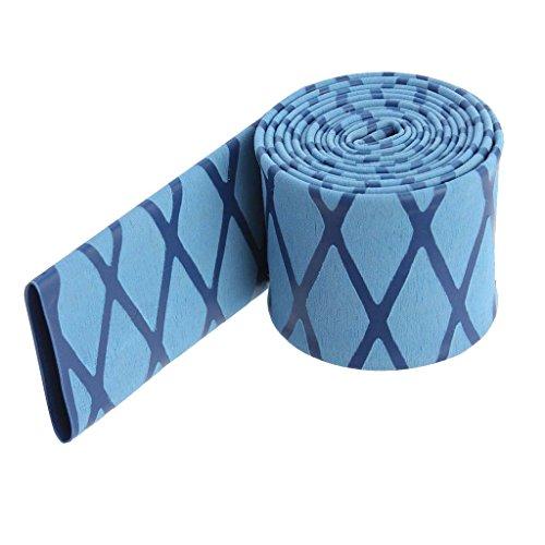 IPOTCH Flexibel Rutschfestigkeit Schrumpfschlauch Schlauchband für Tennis Schläger und Angelruten Griff Länge : 1 Meter - Blau 35mm -