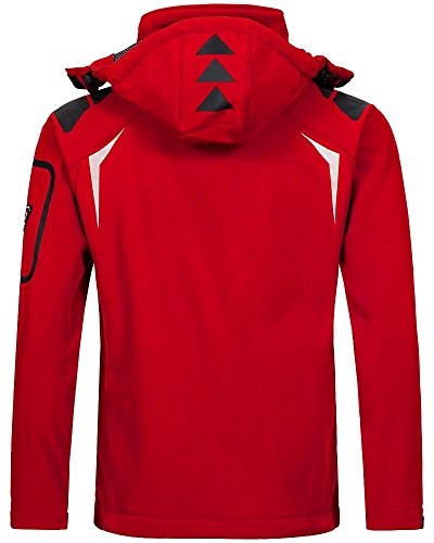 Geographical Norway Herren Softshell Funktions Outdoor Jacke wasserabweisend Red