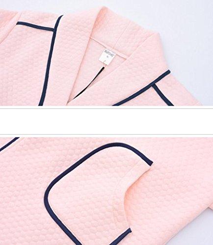 OHmais Unisexe Femme Homme 2 pièces traditionnels Ensemble pyjama avec Pantalon Costume combinaison pyjamas vêtement hiver pink