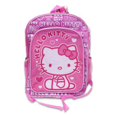 Backpack - Hello Kitty - Hearts Pink (16 School Bag) by Sanro -