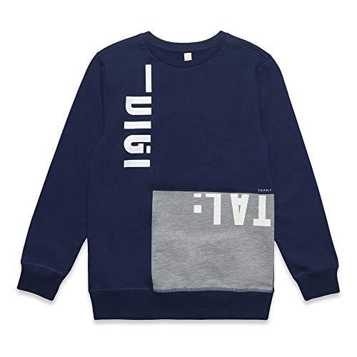 ESPRIT KIDS Jungen Sweat Shirt Sweatshirt, per Pack Blau (Dark Blue 481), 128 (Herstellergröße: XS)