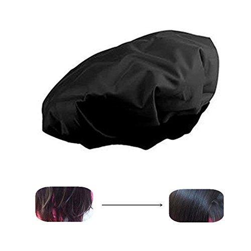 Locisne DIY Thermal Haar Hitze Kappe Microwavable Micro Haar Conditioning Hat Spa Cap Styling Tools Schwarz (Haar-Hitze-Kappe) - Männer Schlafen Cap