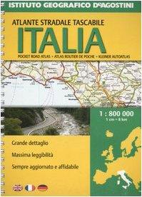 Italia. Atlante stradale tascabile 1:800.000. Ediz. multilingue (Atlanti stradali)