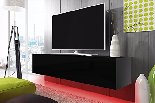 TV-Schrank-Lowboard-Hngeboard-SIMPLE-mit-LED-Rot