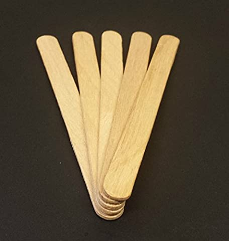 100 114mm Natural Wooden Lolly Stick – Packed by the CandyRush™ Charity – For Kids Crafts Cake/Ice Pop &