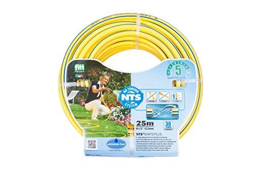 derClou24 Wasserschlauch WhitePlus 3/4 Zoll NTS 25 m Rolle, gelb