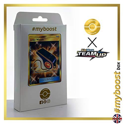 Judge Whistle (Silbato del Juez) 194/181 Entrenadore Secreta - #myboost X Sun & Moon 9 Team Up - Box de 10 cartas Pokémon Inglesas