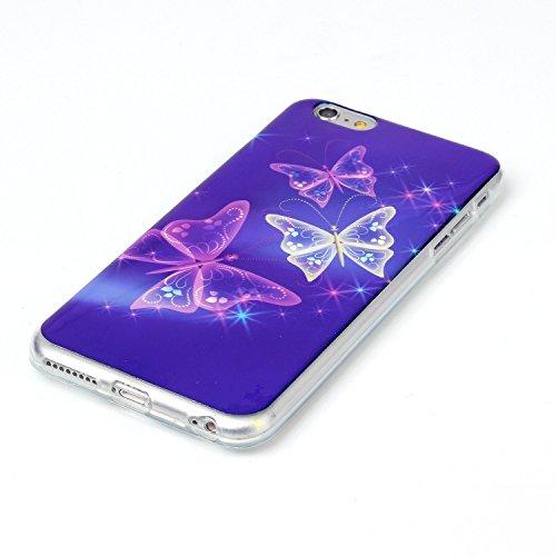 Beiuns Coque en Silicone pour Apple iPhone 6 plus (5.5 pouces) Housse Case - N167 eiffel arc-en-tour N170 papillons fantastiques