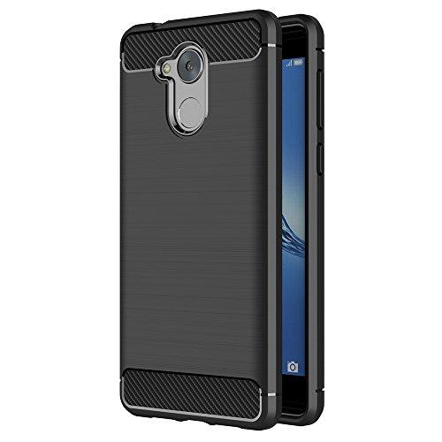 AICEK Honor 6C Hülle, Schwarz Silikon Handyhülle für Huawei Honor 6C Schutzhülle Karbon Optik Soft Case (5,0 Zoll)