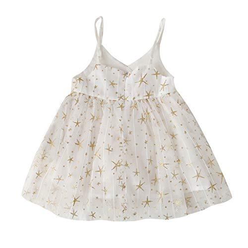 squarex Sommer Kleinkind Baby Kinder Mädchen Kinder Sleeveless Sling Tüll Sterne Kleid Prinzessin Kleider Freizeitkleidung Cute Comfortable