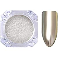 Fashionn Colors Nail Art 2g Born Pretty Metallic Mirror Powder Silver Nail Chrome Pigment Glitters (Silver)