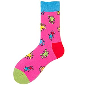 Bornbayb Lustige gekämmte Baumwolle Casual Paar Socken Bunte Persönlichkeit Neuheit Crew Socken
