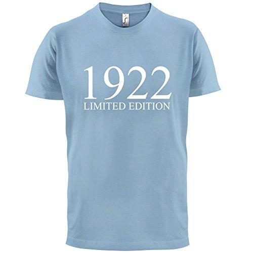 1922 Limierte Auflage / Limited Edition - 95. Geburtstag - Herren T-Shirt - 13 Farben Himmelblau