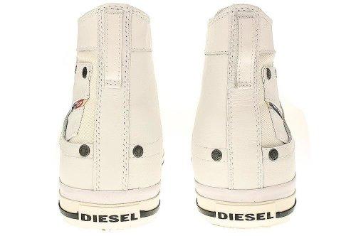 Diesel MAGNETE EXPOSURE I - Glattleder Herren Hohe Sneakers Weiß