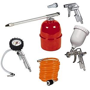 Einhell Kit de accesorios para compresor de aire, 5 unidades (ref.4132720) & – Manguera de compresor (10m, con…